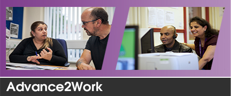 Advance2Work clients working supported by staff