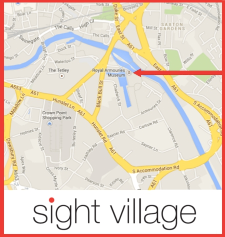 A Map Showing the Venue for Sight Village lLeds