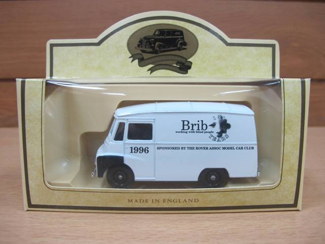A brib die-cast model van in box