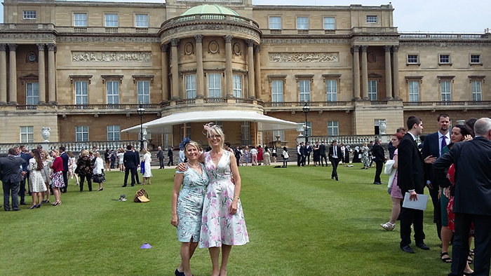 Debbie and Mel during their visit to the DofE Gold Awards