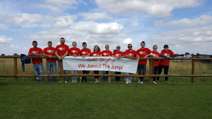 Group picture of Team QAC skydivers