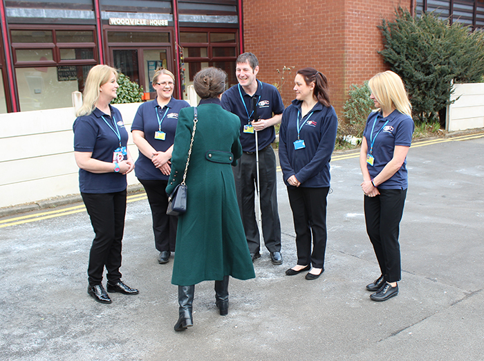 HRH The Princess Royal meeting the Mobility Department by Independence Street