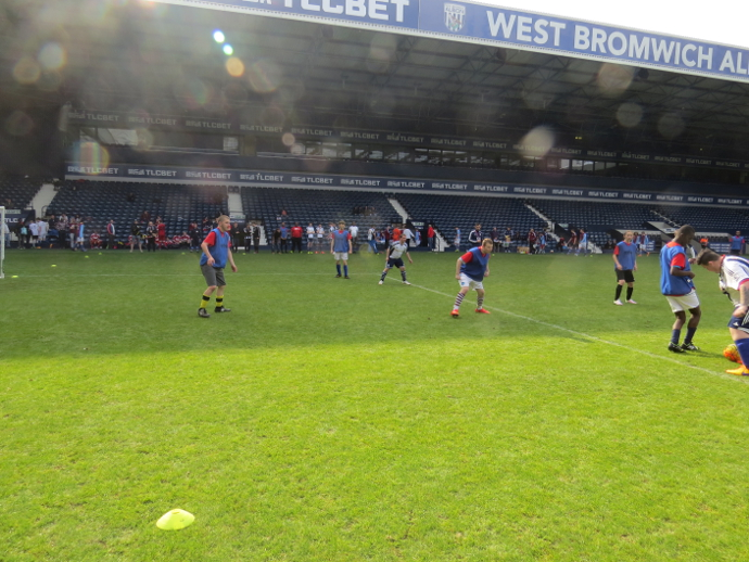 Team QAC during one of their matches at The Hawthorns