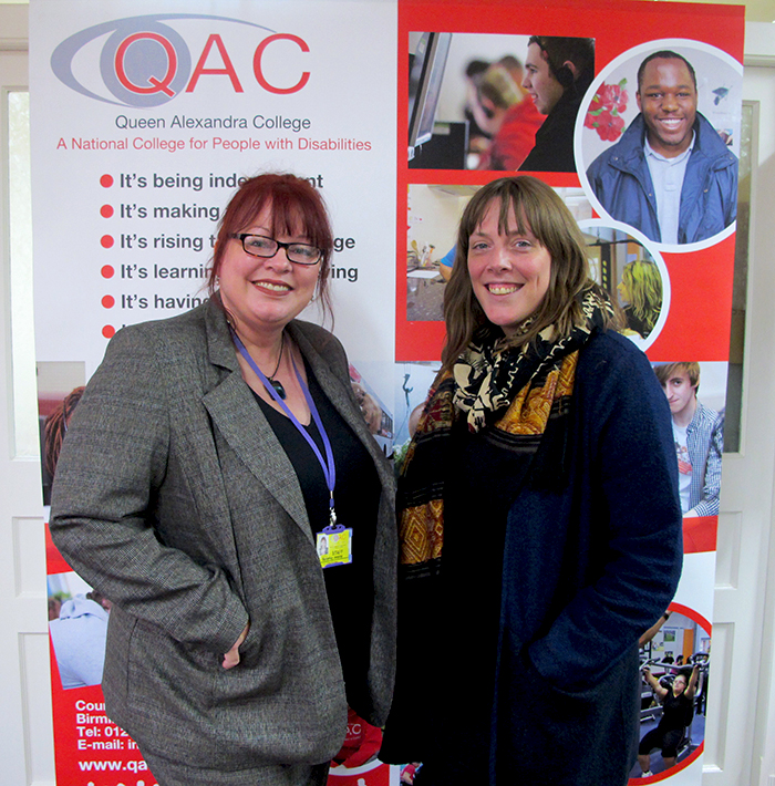 QAC Principal and Chief Executive Bev Jessop with Labour MP Jess Phillips