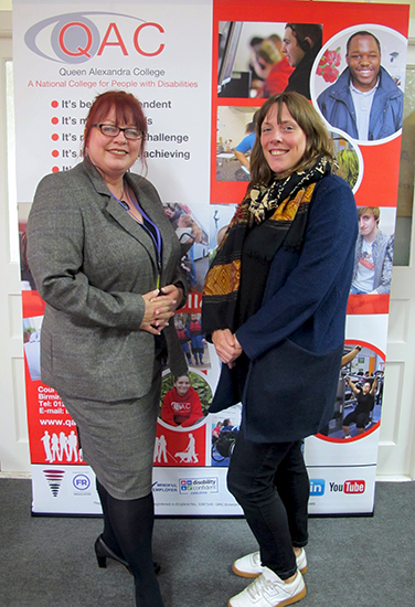 QAC Principal and Chief Executive Bev Jessop poses for photo with Birmingham Yardley Labour MP Jess Phillips