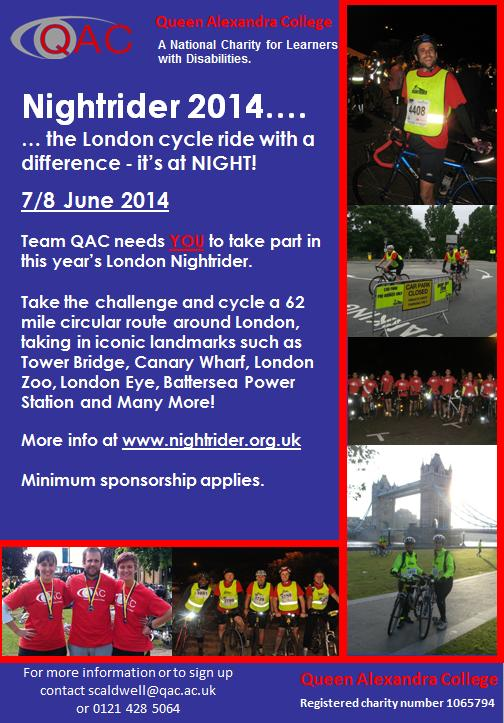 London Nightrider 2014 flyer