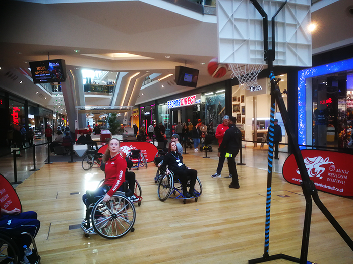 Wheelchair Basketball Demo during Purple Tuesday at the Bullring