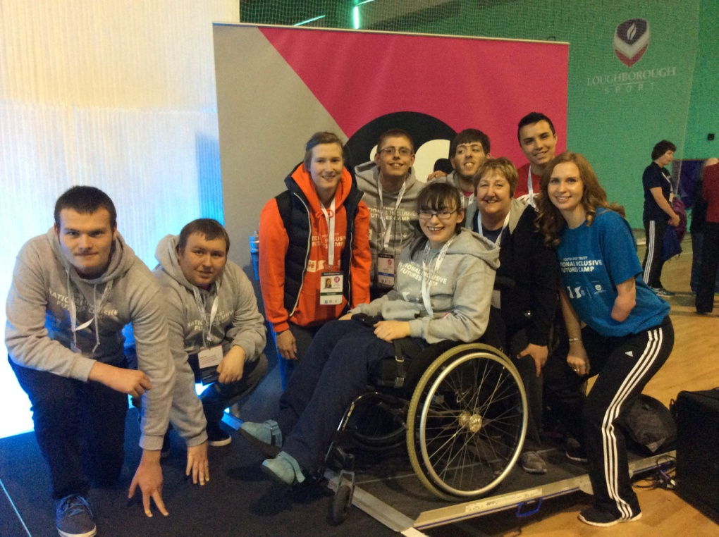 qac students and staff with paralympian kate grey