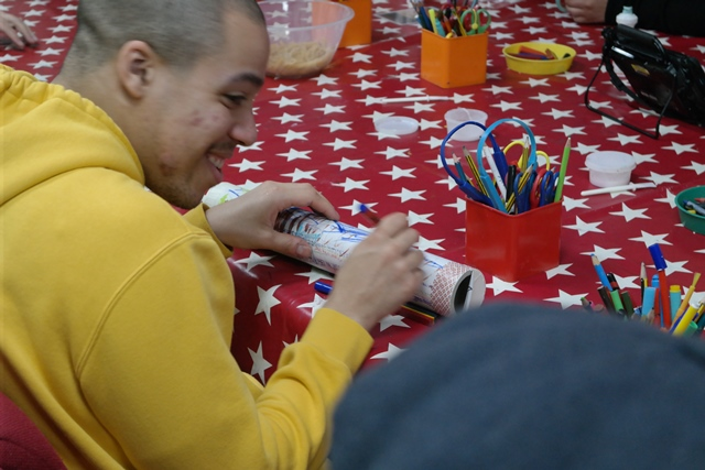 PFL student enjoys rainmaker craft session