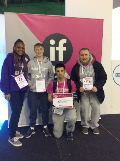 Sport students posing for a photo with Cheyanne Haye from Sport Birmingham
