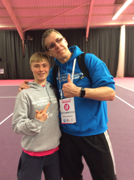 Zach with Paralympic Judo champion Ian Rose