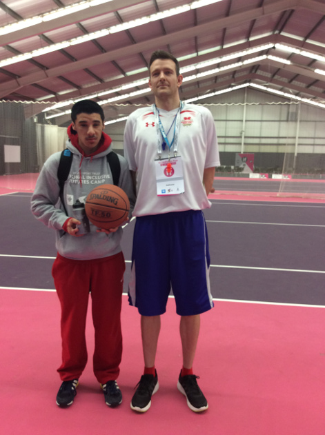 Sanjai with Basketball coach John