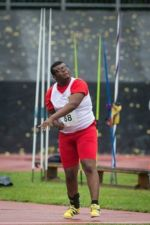 Tyrone throws a javelin at CPISRA Games