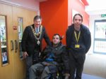 Lord Mayor with 2 students