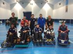 Powerchair Football Students and Staff photo
