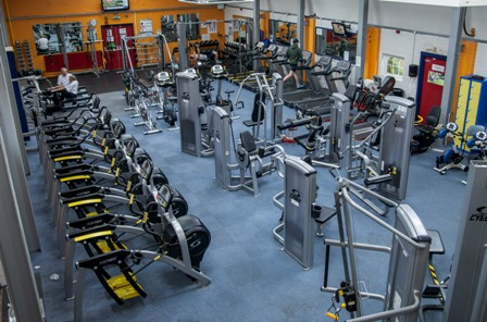 An overhead aerial view of inside Feelgood Fitness Centre