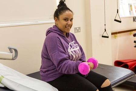 QAC student accessing the Physio Room in Healthcare Centre