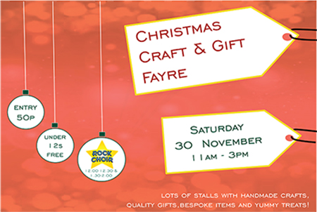 Christmas Craft and Gift Fayre information banner 2019