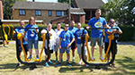 Group of Zurich employees pictured whilst volunteering at QAC